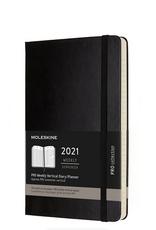 Moleskine 2021 Professional Hard Cover Weekly Vertical Planner Black