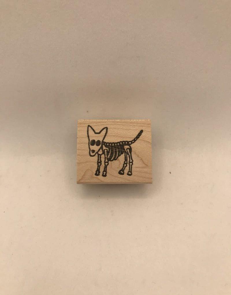 Stamp Dog Skeleton