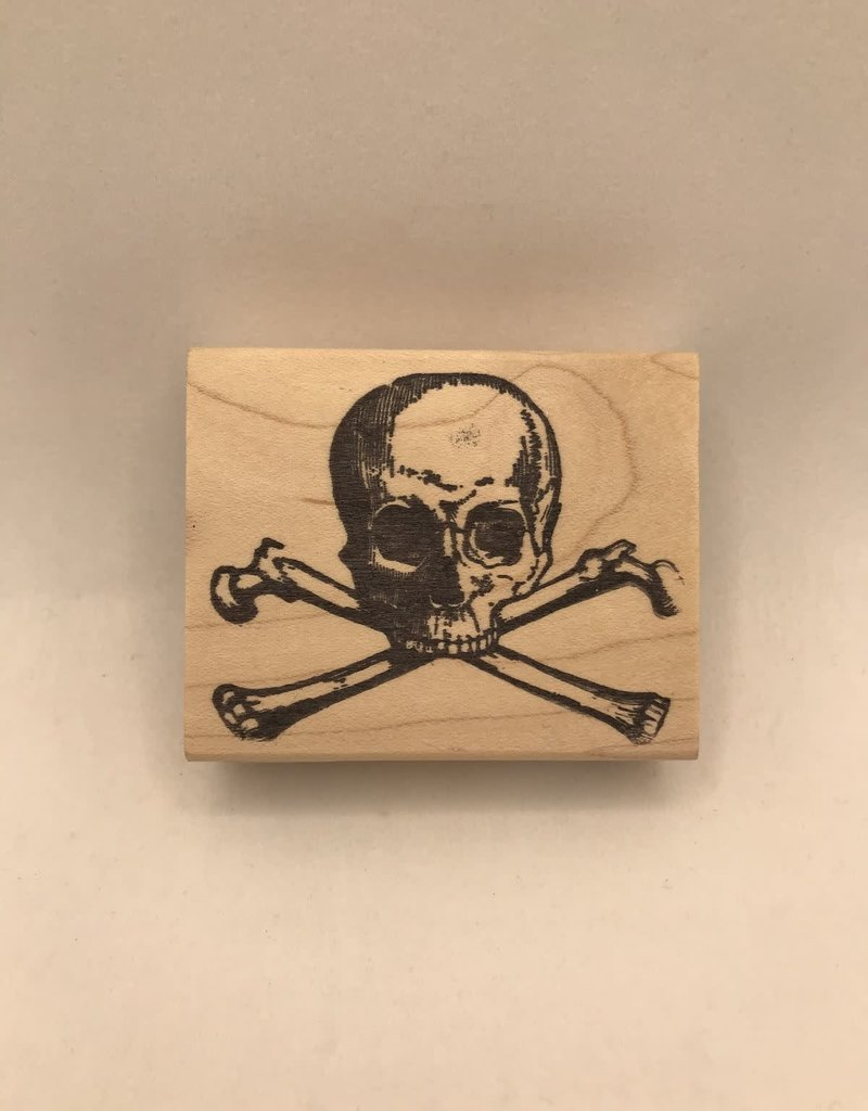 collage Stamp Large Skull And Crossbones