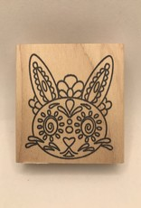 Stamp Day Of The Dead Bunny