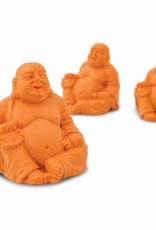 Safari Good Luck Mini Orange Laughing Buddha