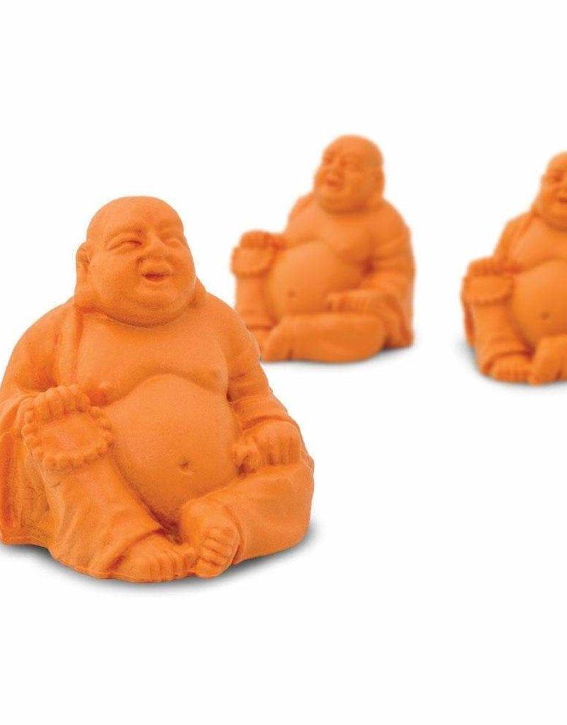 Safari Good Luck Mini Orange Laughing Buddha