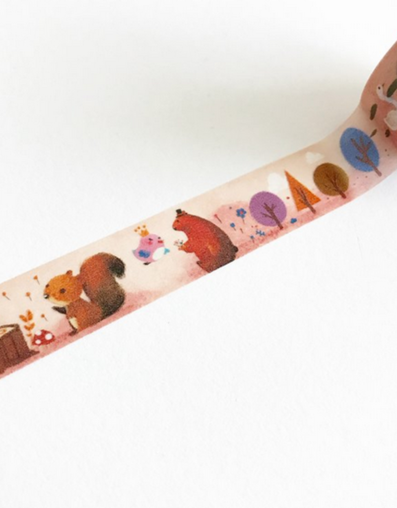 The Little Red House Washi Forest Animals