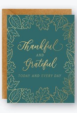 Waste Not Card Thankful and Grateful