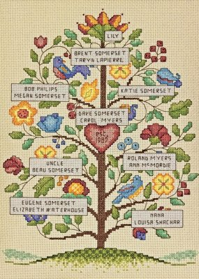 Dimensions Counted Cross Stitch Kit Vitage Family Tree