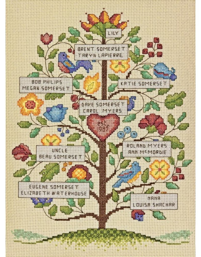 Dimensions Counted Cross Stitch Kit Vintage Family Tree