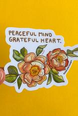 KPB Designs Sticker Peaceful Mind