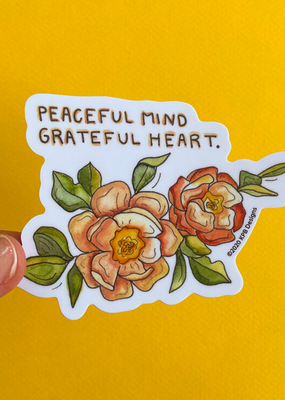 KPB Designs Sticker Peaceful Mind