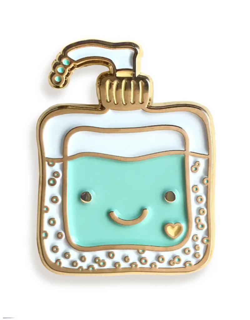 Night Owl Paper Goods Enamel Pin Happy Sanitizer