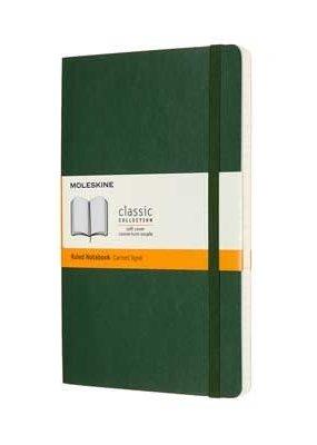 Moleskine Moleskine Classic Soft Cover Ruled Large Myrtle Green