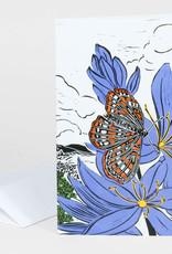 Mimi Williams Card Blue Camas & Taylor's Checkerspot