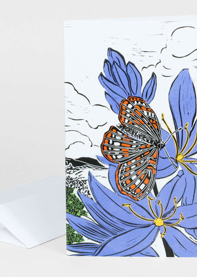 Mimi Williams Card Blue Camas & Taylor's Checkerspot