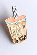 Ilootpaperie Enamel  Pin Balls To The Walls Boba