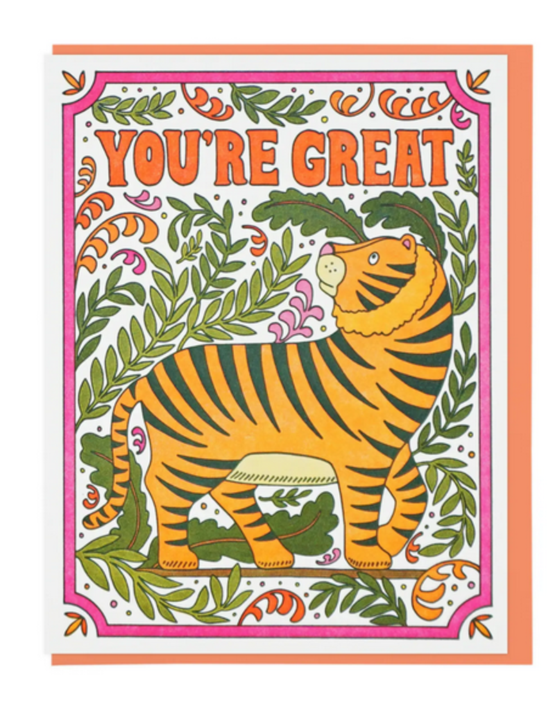 Lucky Horse Press Card You're Great Tiger