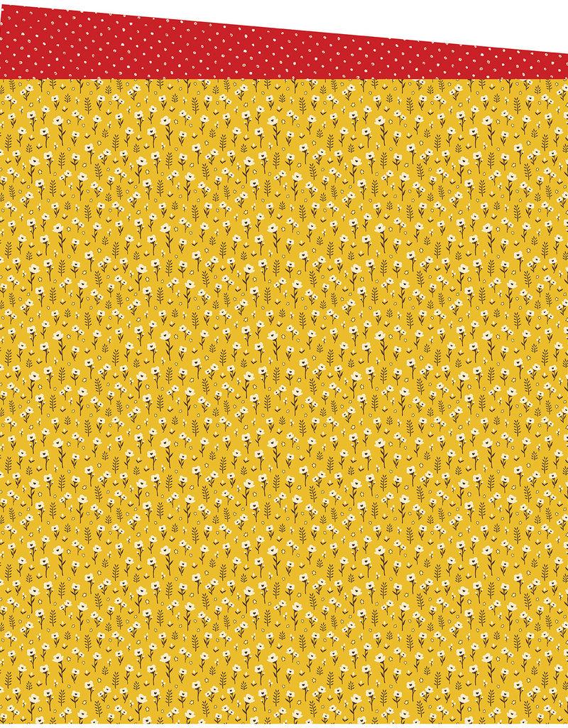 Amy Tangerine 12x12 Paper Marigold Meadows