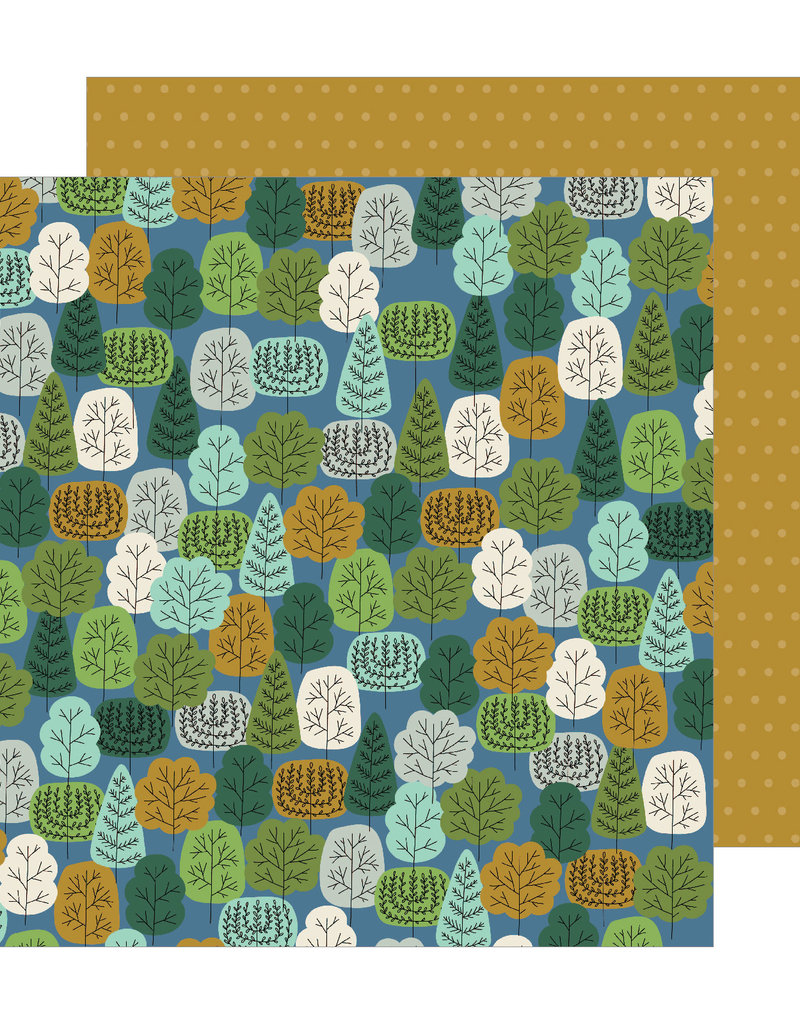 American Crafts 12x12 Paper Wooded Way