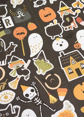 American Crafts Stickers Spoooky with Gold Foil