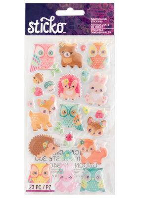 Sticko Stickers Woodland Creatures Epoxy
