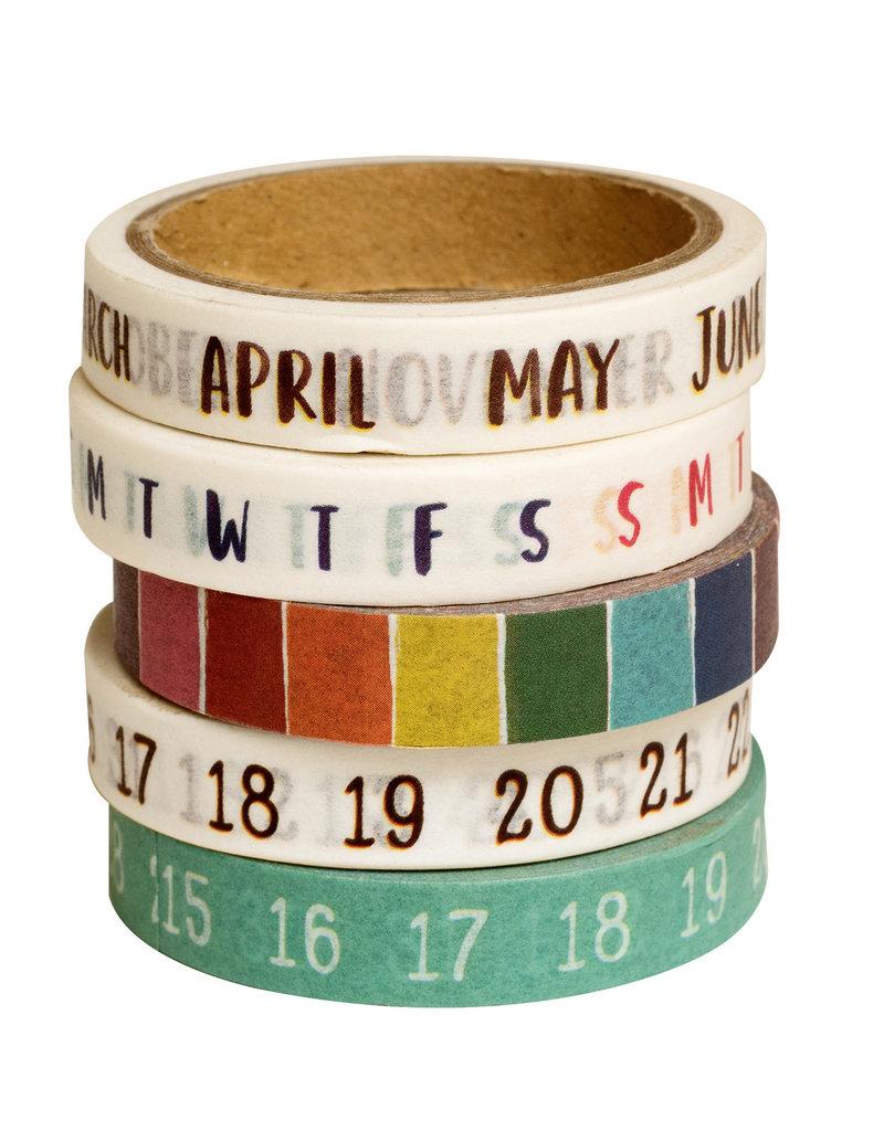 Amy Tangerine Calendar Washi Set of 5
