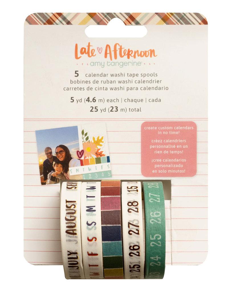 American Crafts Calendar Washi Set of 5