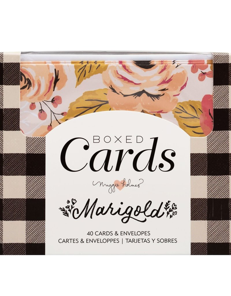 American Crafts Boxed Cards Marigold
