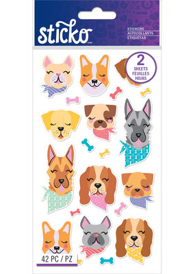 Sticko Stickers Dogs in Bandanas