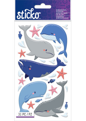 Sticko Stickers Puffy Whales