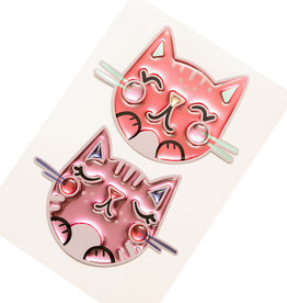 Sticko Stickers Doodle Cat Faces Epoxy