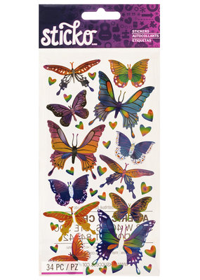 Sticko Stickers Mylar Butterflies
