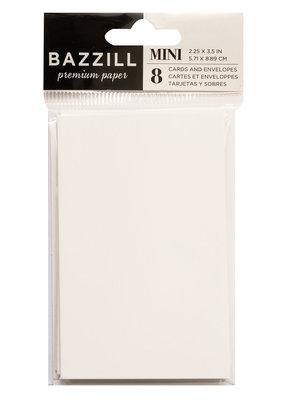 Bazzill Set of 8 Mini Cards & Envelopes