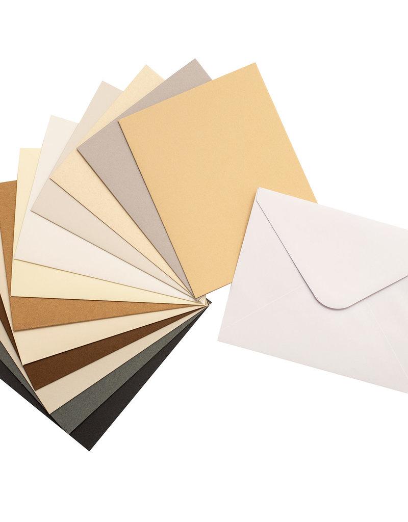 Bazzill A2 Card & Envelope Set of 60 Neutrals