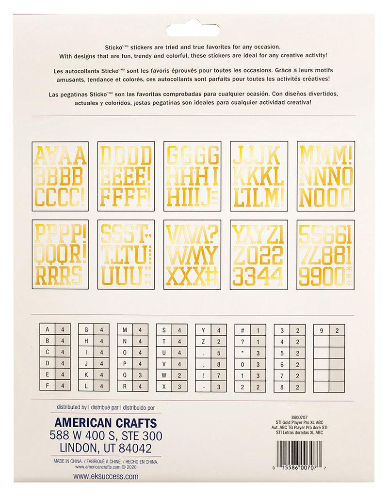Sticko Stickers XL Alphabet Gold