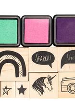 Shimelle 11 Piece Designer Stamp Set Shimelle