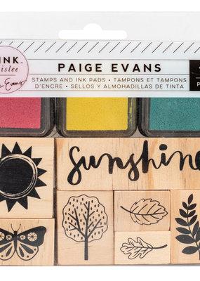 Pink Paislee 10 Piece Designer Stamp Set Paige Evans Truly Grateful