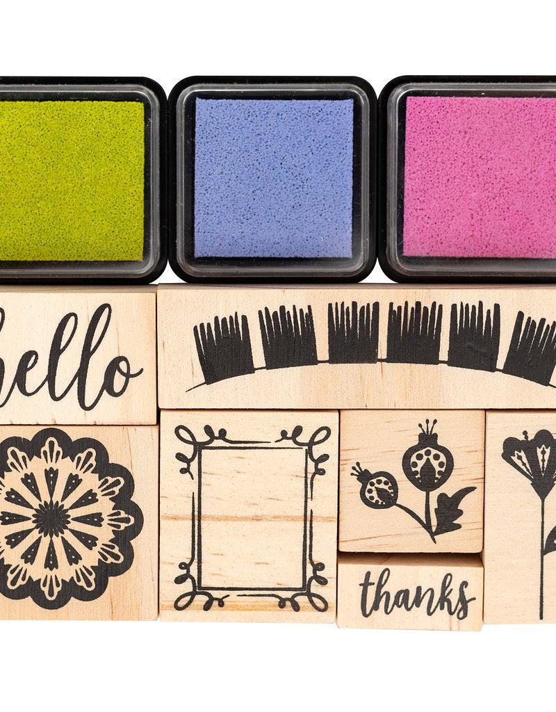 Pink Paislee 10 Piece Designer Stamp Set Paige Evans Horizon