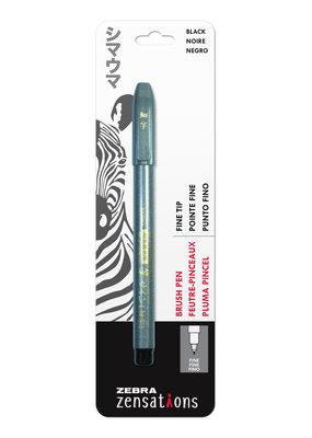 Zebra Zebra Brush Pen Black Fine