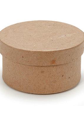 Darice Paper Mache Round Box 3 Inch