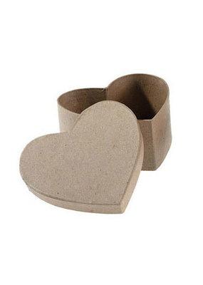 collage Paper Mache Heart Box 3 Inch