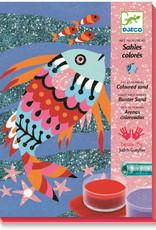 DJECO Colored Sand & Glitter Kit Rainbow Fish