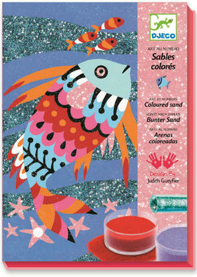 DJECO Colored Sand & Glitter Kit Rainbow Fish