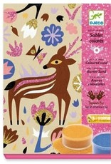 DJECO Colored Sand & Glitter Kit Woodland Wonderland