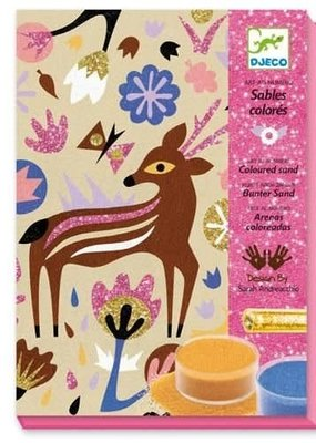 DJECO Colored Sand & Glitter Kit Woodland Wonderland