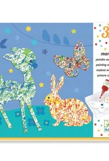 DJECO Colorful Parade Marble Painting Kit