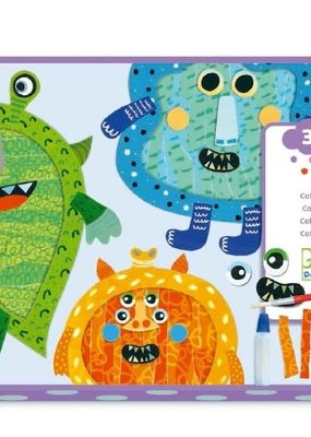 DJECO Happy Monsters Tear & Stick Collage Kit
