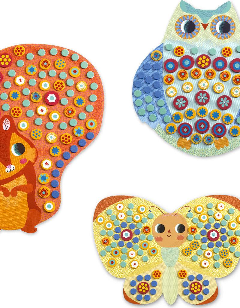 DJECO Millefiori Sticker Mosaic Collage Kit