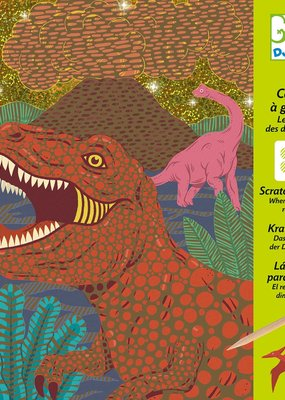DJECO Scratch Card Kit When Dinosaurs Reigned