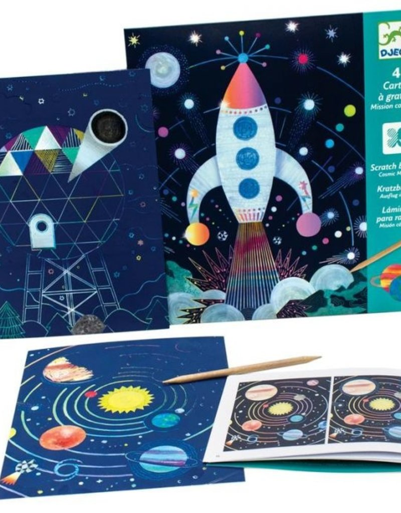 DJECO Scratch Card Kit Cosmic Mission
