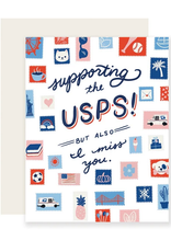 Slightly Stationery Card Supporting the USPS
