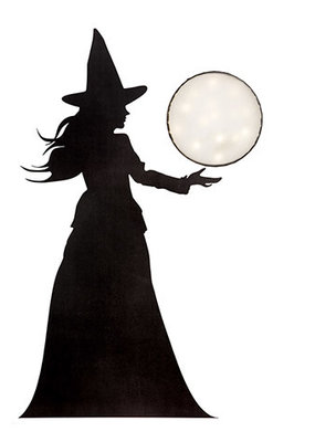 Darice Halloween Witch Decoration 17.5 x 36 Inches