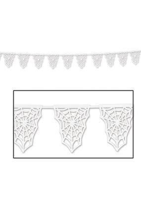 "Die-Cut Spider Web Pennant Banner 9½"" x 15'"